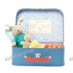 Zestaw do spania dla króliczka w walizce