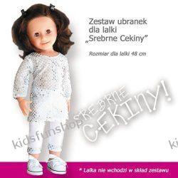 Zestaw ubranek dla lalki Srebrne Cekiny