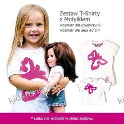 Zestaw T-Shirty z Motylkiem rozmiar  7 lat