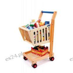 Wózek na zakupy z drewna