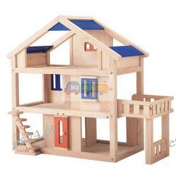 Drewniany domek dla lalek z tarasem, Plan Toys