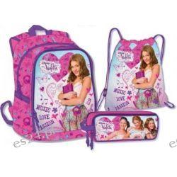 Plecak  Violetta 42 cm + worek i piórnik