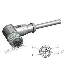 Kabel czujnika M12/4PIN ŻEŃSKI,wtyk kątowy, 2mb