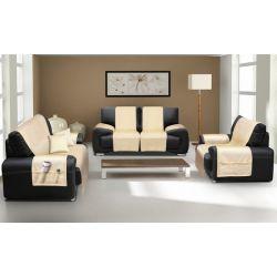 KOMPLET NARZUT na kanapę i fotele PLUSZ narzuta