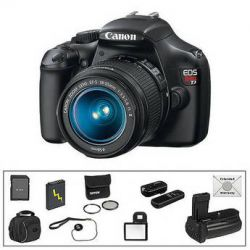 Canon EOS Rebel T3 DSLR Camera w/18-55mm f/3.5-5.6 IS II Lens Deluxe Kit