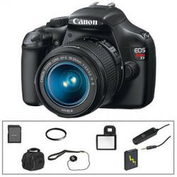 Canon EOS Rebel T3 DSLR Camera w/18-55mm f/3.5-5.6 IS II Lens Basic Kit