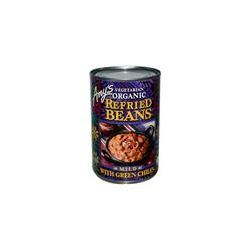 Amy's, Vegetarian Organic Refried Beans with Green Chiles, Mild, 15.4 oz (437 g) Preparaty