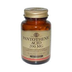 Solgar, Pantothenic Acid, 200 mg, 100 Tablets