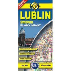 Lublin - laminowany plan miasta w skali 1: 20 000