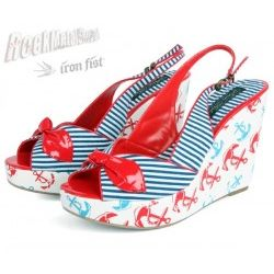 buty na koturnie IRON FIST (Welcome Aboard Wedge)(White)  '09 [OIRON-013]