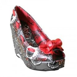 buty na koturnie IRON FIST - OH NO WEDGE (CHARCOAL) (IFL0092) [OIRON-107]