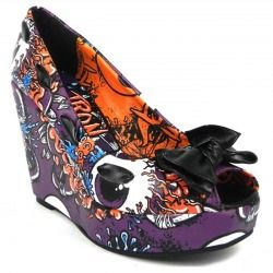 buty na koturnie IRON FIST - OH NO WEDGE (PURPLE) (IFL0092) [OIRON-105]