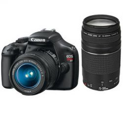 Canon EOS Rebel T3 DSLR Camera with 18-55mm and 75-300mm Lens