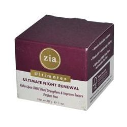 Zia Natural Skincare, Ultimates, Ultimate Night Renewal, 1 oz (28 g)