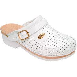 Chodaki damskie/męskie Clog Super Comfort B/S - białe - Scholl