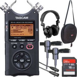 Tascam  DR-40 One-on-One Interviewer Package  B&H Photo Video Sprzęt audio dla domu