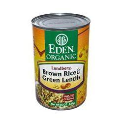 Eden Foods, Organic, Lundberg, Brown Rice & Green Lentils, 15 oz (425 g)