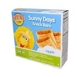 Earth's Best, Sunny Days Snack Bars, Apple, 8 Bars, 0.67 oz (19 g) Each