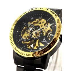 Alienwork IK Automatikuhr Automatik Armbanduhr Skelett mechanische Uhr Edelstahl schwarz schwarz 98226-06 Biżuteria i Zegarki