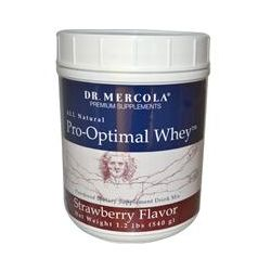 Dr. Mercola, Pro-Optimal Whey, Strawberry Flavor, 1.2 lbs (540 g)