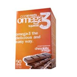 Coromega, Omega3 Squeeze, Chocolate Orange Flavor, 90 Squeeze Packets