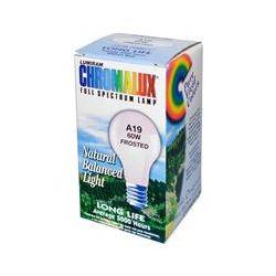 Chromalux, Lumiram, Full Spectrum Lamp, A19 60W Frosted, 1 Light Bulb