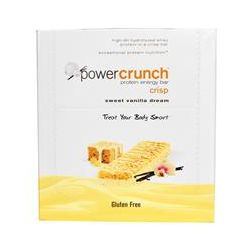 BNRG, Power Crunch Protein Energy Bar Crisp, Sweet Vanilla Dream, 12 Bars, 1.5 oz (41 g) Each