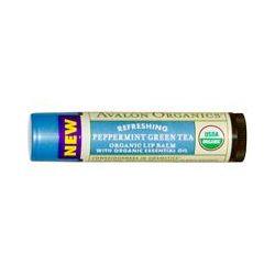 Avalon Organics, Organic Lip Balm, Peppermint Green Tea, .15 oz (4.2 g)