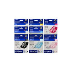 Epson 8 Ink Cartridge Set for Stylus Photo R2400 Printer B&H