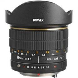 Bower SLY 358P 8mm f/3.5 Fisheye Lens For Pentax APS-C SLY358P