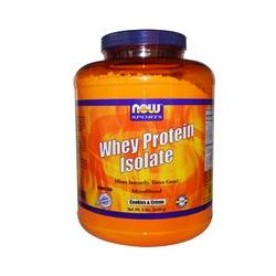 Now Foods, Whey Protein Isolate, Cookies & Creme, 5 lbs (2268 g)