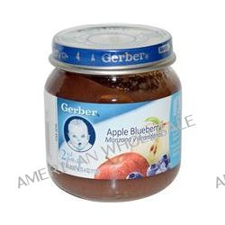 Gerber, 2nd Foods, Apple Blueberry, Sitter, 4 oz (113 g)