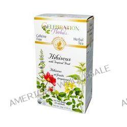Celebration Herbals, Herbal Tea, Hibiscus with Tropical Fruit, Caffeine Free, 24 Tea Bags, 0.98 oz (28 g)
