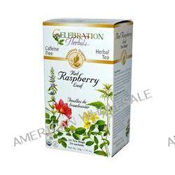Celebration Herbals, Organic, Herbal Tea, Red Raspberry Leaf, Caffeine Free, 24 Tea Bags, 1.41 oz (40 g)