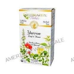 Celebration Herbals, Organic, Herbal Tea, Yarrow Leaf & Flower, Caffeine Free, 24 Tea Bags, 0.67 oz (19 g)