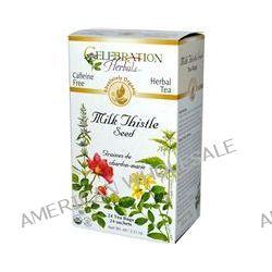 Celebration Herbals, Organic, Herbal Tea, Milk Thistle Seed, Caffeine Free, 24 Tea Bags, 2.11 oz (60 g)