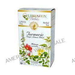 Celebration Herbals, Organic, Herbal Tea, Turmeric, Ginger-Lemon Blend, Caffeine Free, 24 Tea Bags 1.26 oz (36 g)