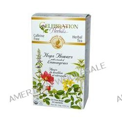 Celebration Herbals, Organic Herbal Tea, Hops Flowers with Lemongrass, Caffeine Free, 24 Tea Bags, 0.84 oz (24 g)