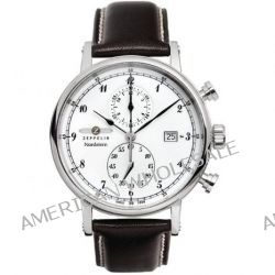 Zeppelin Watches Herren-Armbanduhr XL Analog Quarz Leder 7578-1