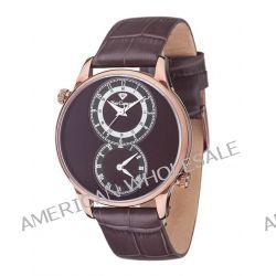 Yves Camani Herren-Armbanduhr XL LOISON Dual Time Brown/Brown Analog Quarz Leder YC1055-E Biżuteria i Zegarki