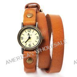 Yesurprise Punk Herren Damenuhr Mode Armbanduhr Quarz Uhr Leder Fashion Watch Geschenk Gift 08 Biżuteria i Zegarki