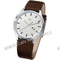 Xen Herren-Armbanduhr XL Analog Quarz Leder XQ0236 Biżuteria i Zegarki