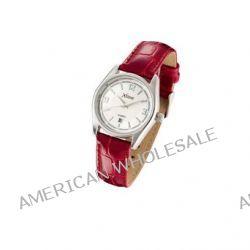 Xtime Unisex-Armbanduhr Montre dame cuir croco bordeaux dateur Analog Quarz Rot XTD009-501 Biżuteria i Zegarki