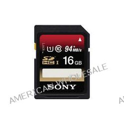 Sony 16GB SDHC Class 10 UHS-1 Memory Card SF16UX/TQN B&H Photo