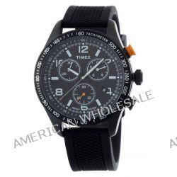Timex Herren-Armbanduhr XL Style Chronograph Quarz Silikon T2P043