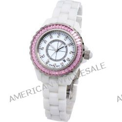 Time100 Hochtechnologie-Keramik-Strass-Damen-Armbanduhr W50018L.02A