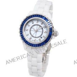 Time100 Hochtechnologie-Keramik-Strass-Damen-Armbanduhr W50018L.01A