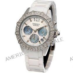 Time100 Feine Multifunktion-Keramiken-Damen-Armbanduhr mit Muschel-Zifferblatt und drei Anzeigen W50056L.01A