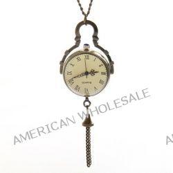 O.R.® (Old Rubin) Einzigartige Konkav und Konvex-Spiegel Design Bronze Uhr-Kasten-Vintage-Bronze Fischauge Kristallball Klassische römische Zifferblatt Quarz-Taschenuhr