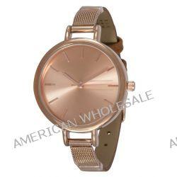 SIX Uhr mit braunem Armband mit rosé-goldenen Metall-Akzenten (274-316)